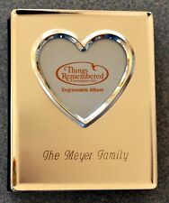 ENGRAVED MEYER FAMILY - THINGS REMEMBERED HIGH HEART MINI-ALBUM  NIB