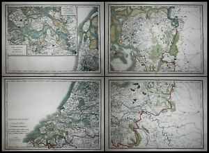 Nederland Netherlands Holland Low Countries map Karte Mentelle Chanlaire 1797