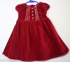 BABY GAP size 18 to 24 Months PRETTY Red Pleated Front Zip Back DRESS 18/24M