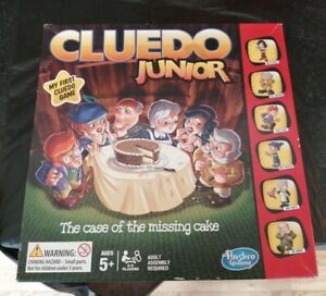JUNIOR CLUEDO CASE OF THE MISSING CAKE COMPLETE LOVELY CONDITION HASBRO 2014