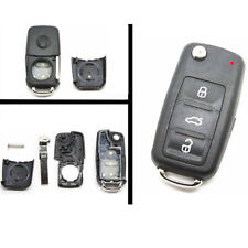 3 Buttons Remote Key Fit For VW Polo GOLF MK6 Touareg FOB Shell Case Uncut Blade