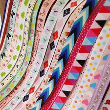 "20YARDS Assorted of 20 Styles 3/8"" 10mm Grosgrain Ribbon Craft Bulk Lots"