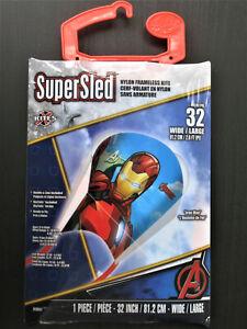 Lot of 3 SuperSled X Kites Iron Man Avengers, Spiderman, Jurassic World 32inch