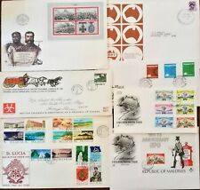 Tantalizing 7 WW 🌐 HISTORICAL FDC Eye candy COVERS Rourke's Drift RSA St. Lucia