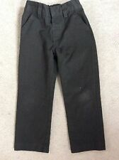 NEXT BLACK SCHOOL TROUSERS WITH ADJUSTABLE WAISTBAND - AGE4y