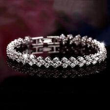 Diamond Sterling 925  Bracelets Woman Crystal Fashion Style Silver Roman