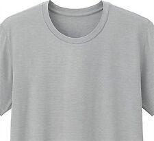 UNIQLO Men's HEATTECH Crewneck T-Shirt S LIGHT GRAY Stretch Under Garment *NIP*