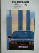 BMW 525tds E34 +touring Prospekt März 1992 Deutsch Brochure Catalogue