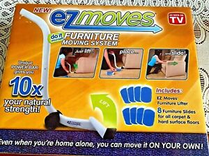 EZ MOVES AS SEEN ON TV FURNITURE MOVING SYSTEM RUBBER 8 PK 10X NATURAL LIFTING