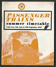 ZD=1895# IRELAND CIE June 1965 timetable Dublin Limerick Cork Cobh Waterford