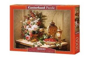 """NEW Castorland Jigsaw Puzzle 3000 Pieces Tiles """"Tulips and Other Flowers"""""""