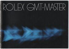 Rolex GMT Master di transizione in plexiglass 1982 LIBRETTO VINTAGE 16750 16758 16753