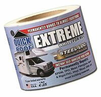 """Cofair UBE425 Quick Roof Extreme with Steel-Loc Adhesive, White for RVs - 4"""" ..."""