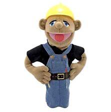 "15"" MELISSA & DOUG CONSTRUCTION WORKER PUPPET w DETACHABLE WOOD ROD for Movement"