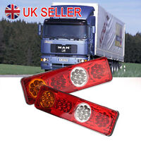 Pair 12V Led Rear Tail Lights Lamp 6 Function Trailer Caravan Truck Lorry 36 Led