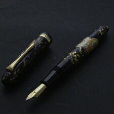 1940 Vintage Japanese Modern Makie Ebonite Gold Plated Semiflex Nib Fountain Pen