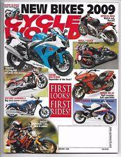 Cycle World Magazine January 2009- Buell 1125CR, Suzuki GSX-R1000,Ducati Monster