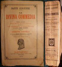 ALIGHIERI DANTE, DIVINA COMMEDIA, HOEPLI 1932