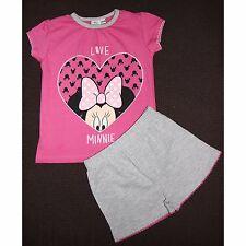 DISNEY pyjashort MINNIE 2-3 ou 4-5 ans pyjama pyjacourt gris rose NEUF