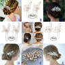 Bridal Wedding Flower Crystal Hair Comb Clip Pin Accessories Pearl Bridesmaids