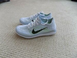 NEW WOMENS 6 - 11 NIKE FREE RN FLYKNIT 2018 RUNNING SHOES WHITE BLACK 942839 100