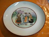 """Antico Piatto """" Costumi Orientali """" Ceramica LAVENO d 23 cm h 3 cm"""