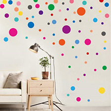 PARLAIM Wall Stickers for Bedroom Living Room, Polka Dot Wall Decals for Kids