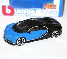 Burago - BUGATTI CHIRON (Blue) - 'Street Fire' Model Scale 1:43