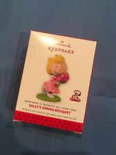 "Hallmark Keepsake ""Sally's Spring Bouquet Happiness Peanuts "" 2015 Ornament NEW"