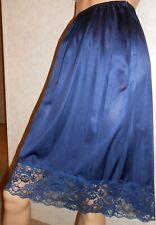 Vintage Half Slip Vassarette Dupont Nylon Beautiful Blue Small