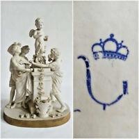Unterweissbach German Bisque porcelain Group putti romantic scene marked 1920