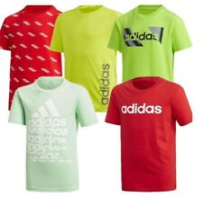 Adidas Boys T Shirt Essential Gym Sport Running Kids Graphic T-Shirts Size S M L