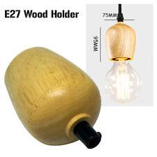 2xretro Wood Holder Vintage Industrial Lamp Light Bulb Holder Antique Edison E27