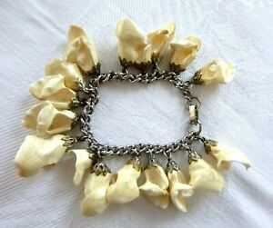 """Artisan Elk Whistler Tooth Bracelet Unique One-of-a-Kind 17 Teeth """"Charms"""""""