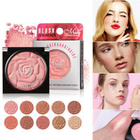 Women 10 Colors Blusher Powder Palette Long Lasting Soft Face Cosmetic Makeup