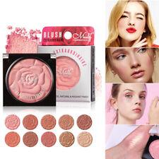 Women 10 Colors Blusher Powder Palette Long Lasting Soft Face Cosmetic Makeup
