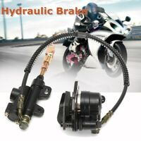 Hydraulic Rear Disc Brake Caliper System + Pads 110cc 125cc Pit Dirt Bike ATV <