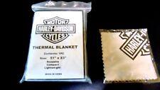 Reusable Harley Davidson Thermal Blanket Emergency Safety & Sunglasse Lens Cloth