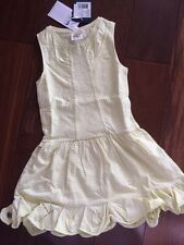 NWT 116 4-6 Yr Jottum Beautiful Beaded Seaton Striped Yellow Ruffle Dress