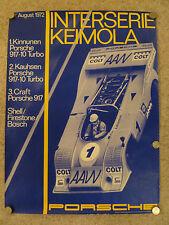 1972 Porsche 917-10 Turbo Interserie Keimola Victory Showroom Poster RARE!! L@@K