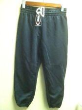 Baseball Pants Youth Black Medium Polyester Elastic Pullup Draw String NEW