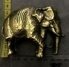 Vintage Elephant Brass Belt Buckle