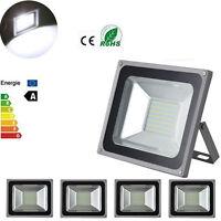 FOCO PROYECTOR LED SMD 100W -ESPAÑA-Exterior Focos Lámpara  Pared Luz Reflector