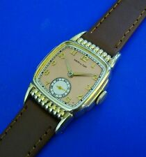 Vintage 1937 Mans HAMILTON *ROLAND* Hand Winding, Salmon Dial, Fully Serviced!