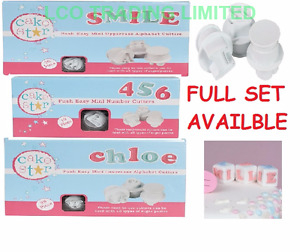 NEW MINI Cake Star Push Easy Cutters SMALL Alphabet Letter & Numbers FULL SET!!