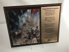 """September 11th, 2001 Plaque """"Firefighters Prayer"""" *REDUCED PRICE* Was $40"""