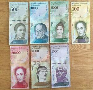 Venezuela 7 Note Set: 500 to 100000 Bolivares F. (2016/2017) - p94-100-New UNC