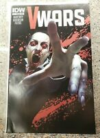 Damaged V-Wars #1 RARE Metallic Ink Blood Variant Cover IDW Comic VWars Netflix