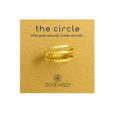 Dogeared Set of 3 Circle Gold Dipped Multi Circle Stackable Layering Rings Sz 7