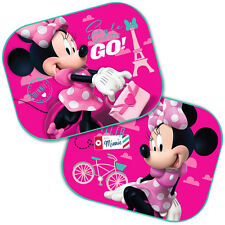 2 x Disney Minnie Mouse Car Sun Shade UV Baby Children Kids Window Visor 03